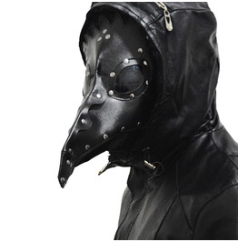 Death Bird Long Beak Mask Multicolor Faux Leather Unisex