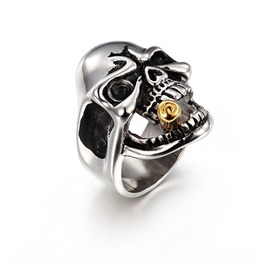 Men's Punk Rock Skull Finger Rings