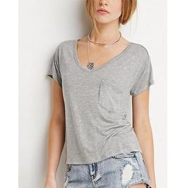 Women Pocket Solid Color T Shirt 3 Colors T06