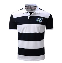 Men's Summer Short Sleeved Striped Polo Shirt