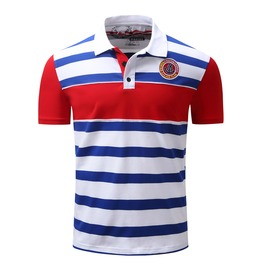 Men's Casual Summer Striped Polo Shirt
