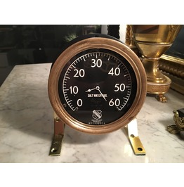 Igearz Steampunk Steam Pressure Gauge Clock Black Brass Salt Water