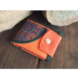 Personalized Wallet, Handmade Wallet, Vegan, Leather Wallet, Mandala Wallet