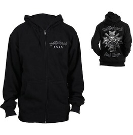 Motorhead Hooded Sweatshirt Official Bad Magic Zip Logo Hoodie