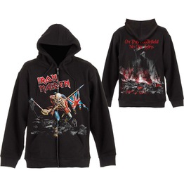 Iron Maiden Hooded Sweatshirt Official The Trooper Zip Hoodie
