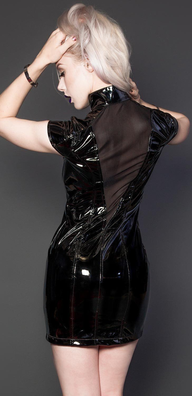 Women Black Vinyl Pvc Dress Gothic Summer Style Corset