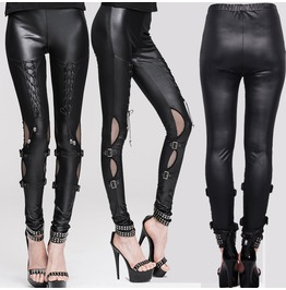 Women Sexy Pu Leather Leggings Solid Slim Fir Pencil Gothic Women Pants Leg