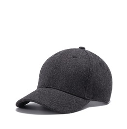 Men's Spring Woolen Grey Baseball Cap