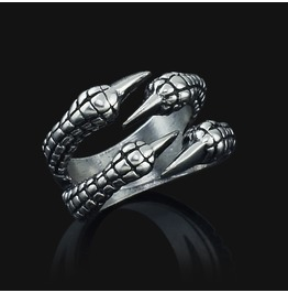 Dragon Claw Titanium Stainless Steel Ring Unisex