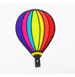 Rainbow Balloon Iron On Patch For Kids.