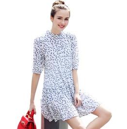 Summer Style Women Chiffon Mini Slim A Line Dress