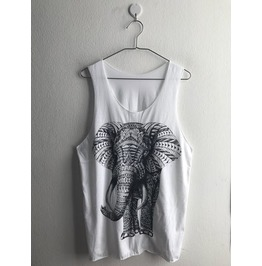 Elephants Fashion Unisex Vest Tank Top