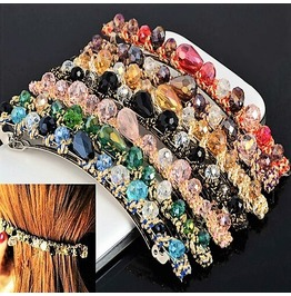 Multicolor Fashion Retro Crystal Rhinestone Barrette Hairpin Hair Clips