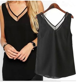 Stylish Casual Top Black