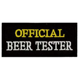 Official Beer Tester Patch 8cm X 3.5cm