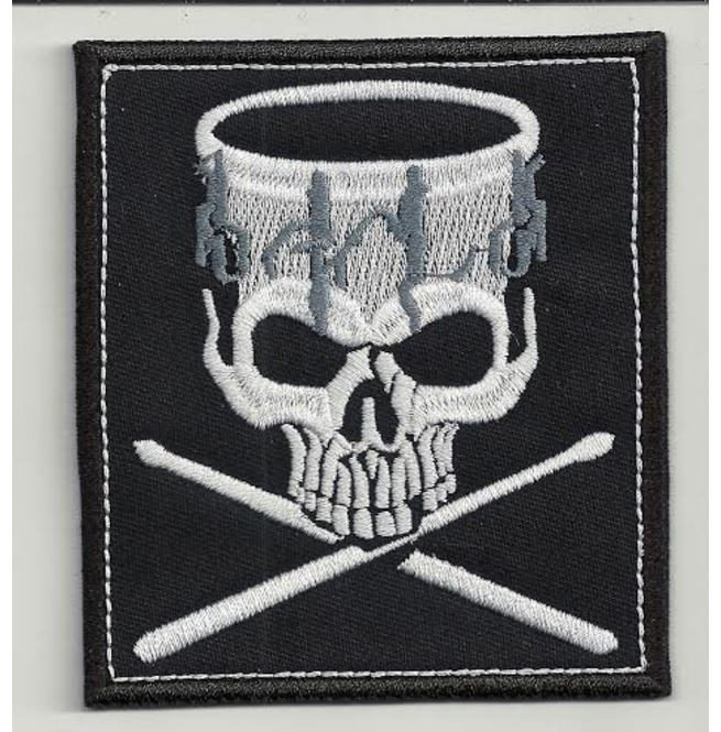 Drummer embroidered patch 3,2 X 2,4 INCH