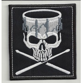 Drummer Embroidered Patch, 4 X 3,2 Inch