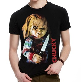 3 D Print Bride Of Chucky American Horror Movie T Shirt