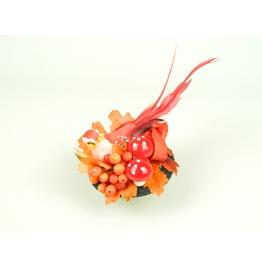 Fascinator Headpiece Feathered Bird, Berries And Flowers Woodland Summer