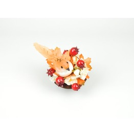 Fascinator Headpiece Feathered Bird And Silk Flowers In Oranges And Reds