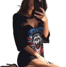 Street T Shirt Pins V Neck Vestidos Women Party Dresses
