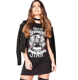 Rock N Roll Born To Be Wild Eagle Punk Rock Festival T Shirt Dress