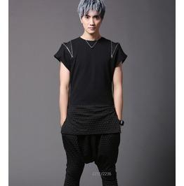 New Summer Men's Tops Black Fashion Punk T Shirts