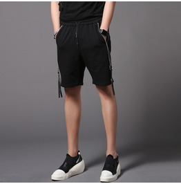 Fashion Men's Casual Shorts Black Slim Skinny Short Trousers