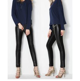 Women Genuine Leather Pants Gothic Fashion Female Leggings Trousers Slim Fi