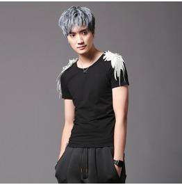 New Fashion Black White Slim Fit T Shirts For Men