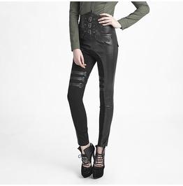 Women Steampunk Gothic High Rock Pants Punk Women Sexy Uniform Trousers