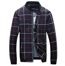 Plaid Checkered Fashion Baseball Bomber Jacket