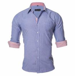 Pastel Summer Color Dress Shirt Men