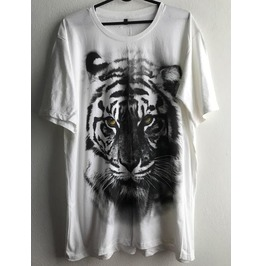 Tiger Animal Wave Punk Pop Rock Indie T Shirt Xl