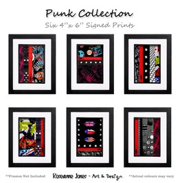 Punk 6 X Signed Prints Roseanne Jones
