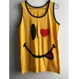 Smiley Happy Face Punk Pop Art Rock Vest Tank Top