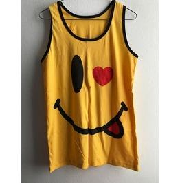Smiley Happy Face Punk Pop Art Rock Vest Tank Top