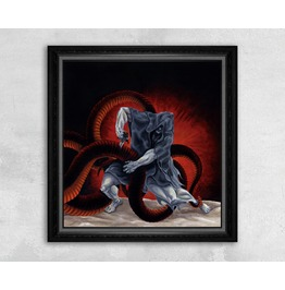 Giclee Print Of A Man Fighting A Dragon