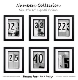 Numbers Collection 6 X Signed Prints Roseanne Jones