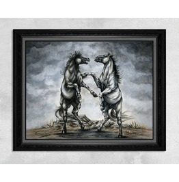 The Battle Of Horses Print