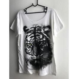 Tiger Animal Fashion Pop Rock T Shirt Low Cut M