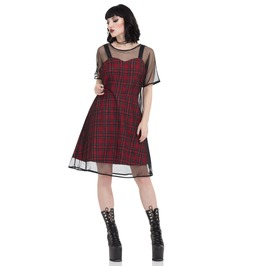 Jawbreaker Clothing Tartan Mesh Skater Dress