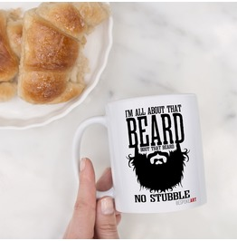 Rebelsmarket all about that beard parody coffee or tea mug 11oz dishes and mugs 2