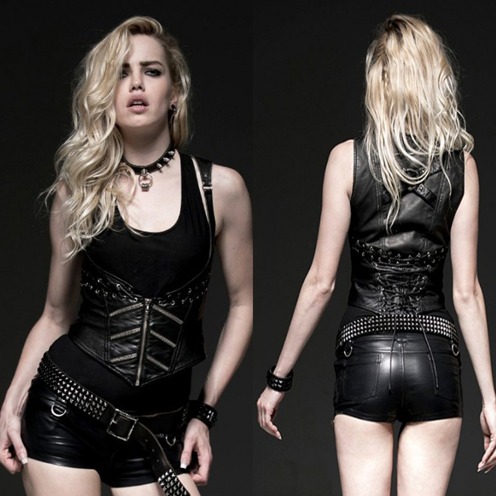Women'S Sexy Leather Vests 104