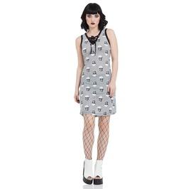 Jawbreaker Clothing Two Tone Skull Dress
