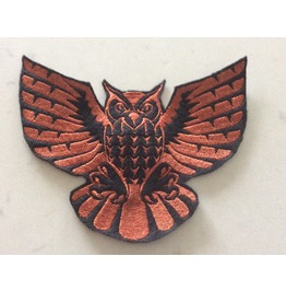 Embroidered Tribal Owl Iron/Sew On Patch