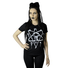 Bone Pentagram Magic Symbols Skull Shirt Top Female