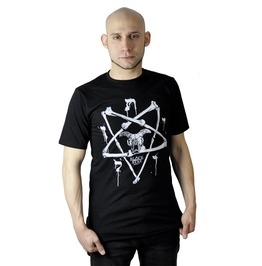 Bone Pentagram Occult Skull Shirt Male