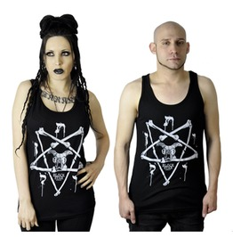 Bone Pentagram Magic Symbols Skull Tank Top Unisex