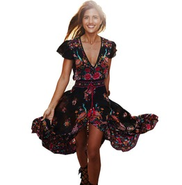 Sexy Bohemian Hippie Beach Dress For Women